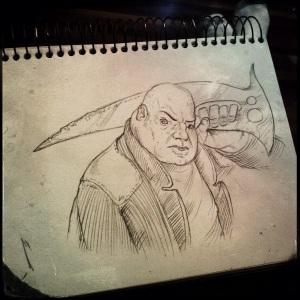 Sunday Sketch 44 - Terry Whidbourne