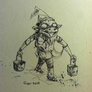 A Bucket Goblin, by the mysterious curator of Goblin Week