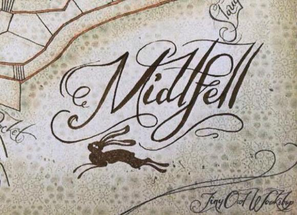 Midlfell - a fragment of cartography by Terry Whidborne