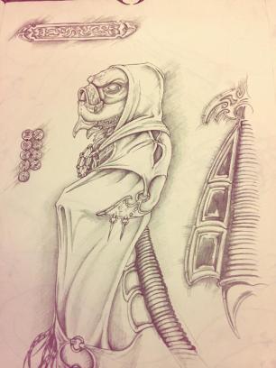 Terry Whidborne's latest sketch